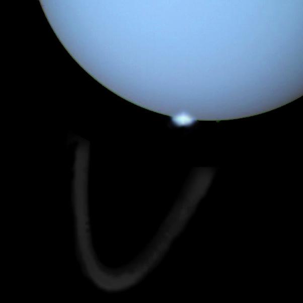 Une aurore polaire sur Uranus