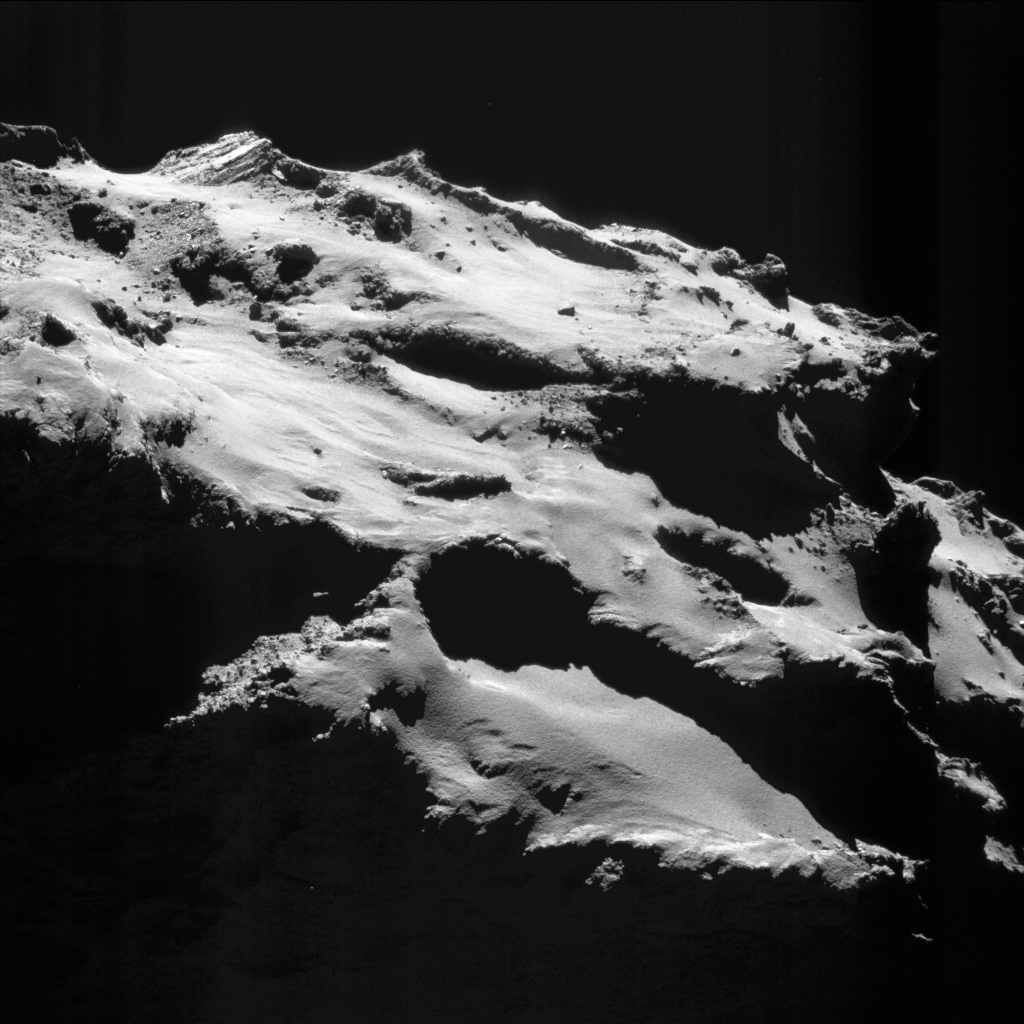 Comet Churyumov-Gerasimenko seen from close by Rosetta