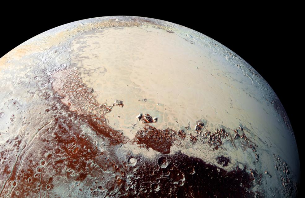 Pluto seen by the probe New Horizon