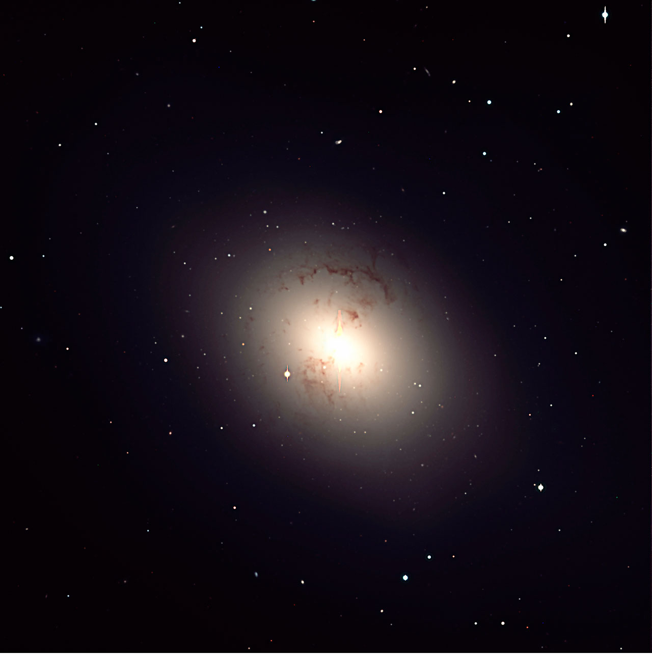 NGC 1316, a giant elliptical galaxy
