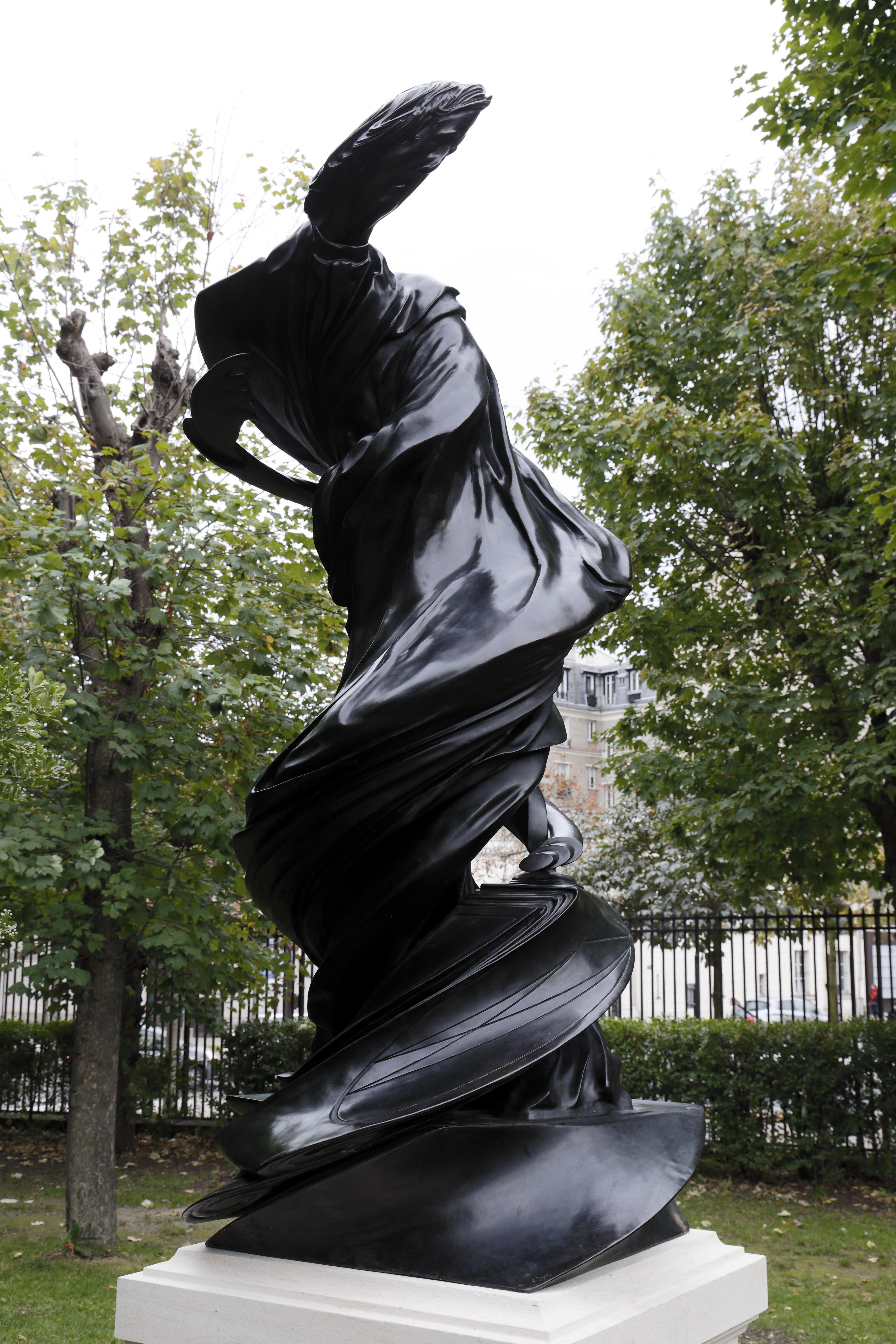 La statue Arago, tout juste inaugurée dans les jardins de l'Observatoire de Paris. © Pascal Blonde, Observatoire de Paris