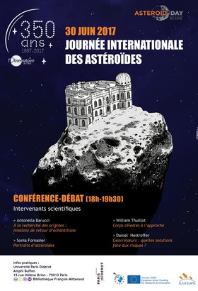 Poster Conférences Asteroid Day / 30 juin 2017