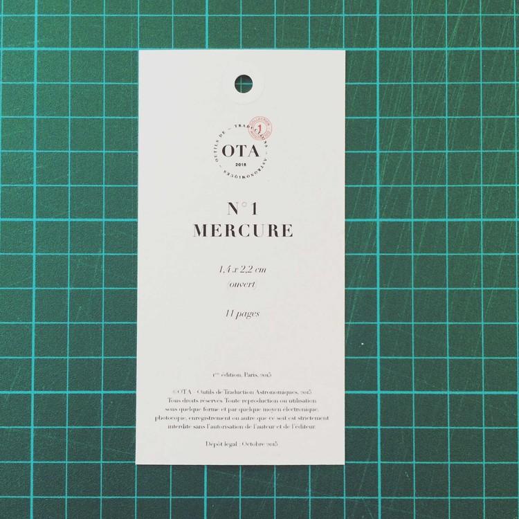 Livres éphémérides N°1 Mercure, livre tellurique, 11 pages Détail du marque-page