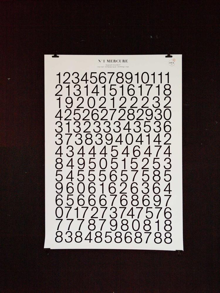 Affiches de révolution - série de 8 affiches typographiques N°1 Mercure, 88 jours