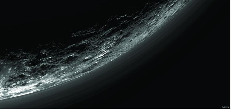 Pluton – droits : NASA/JHUAPL/SwRI/Gladstone et al./Science