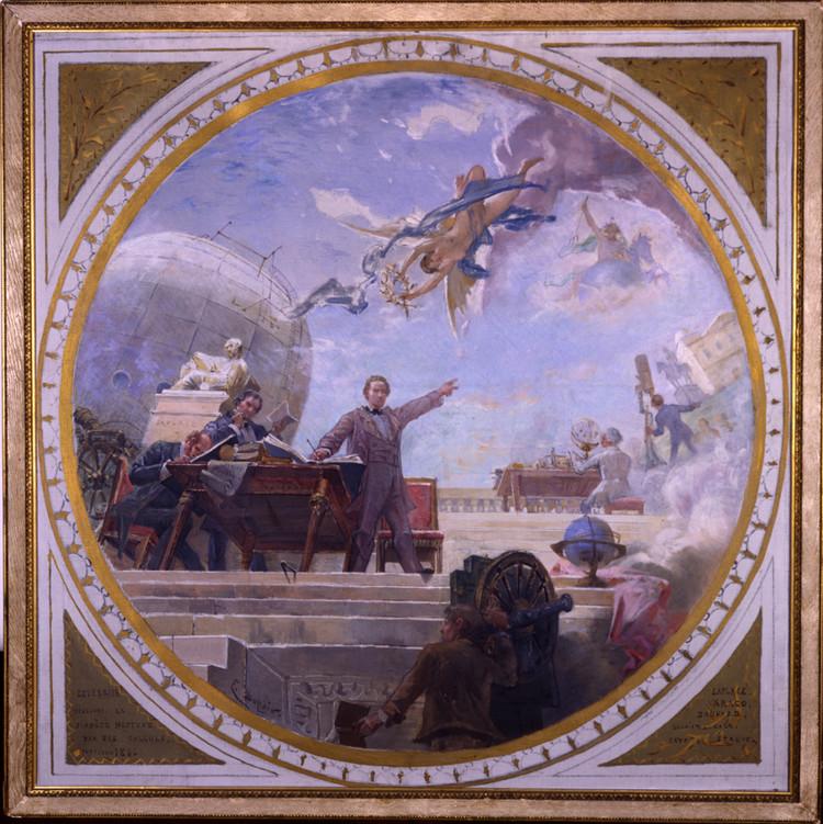 Projet de plafond peint - droits : Observatoire de Paris