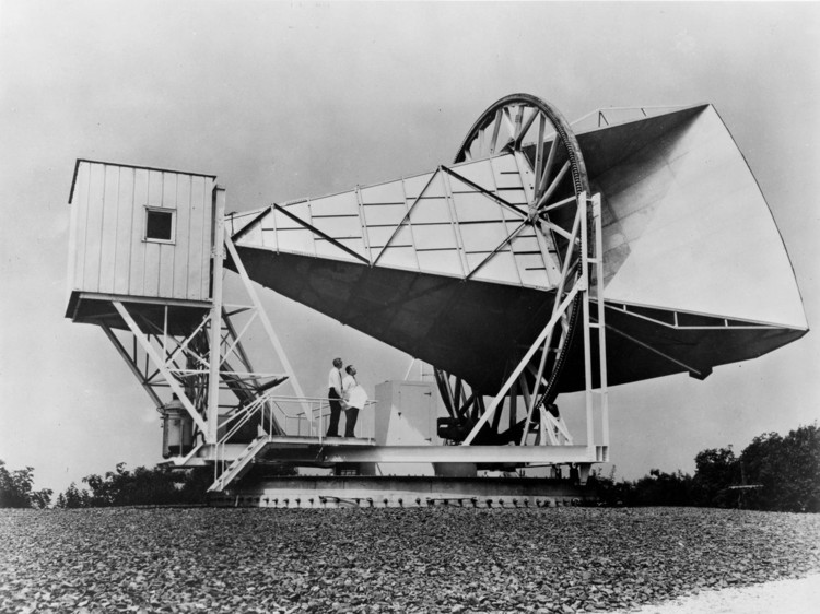 L'antenne Holmdel Horn aux laboratories Bell – droits : NASA