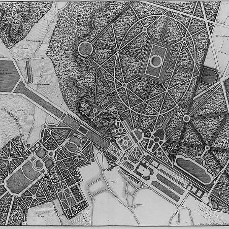 Plan des jardins du château – droits : Observatoire de Paris