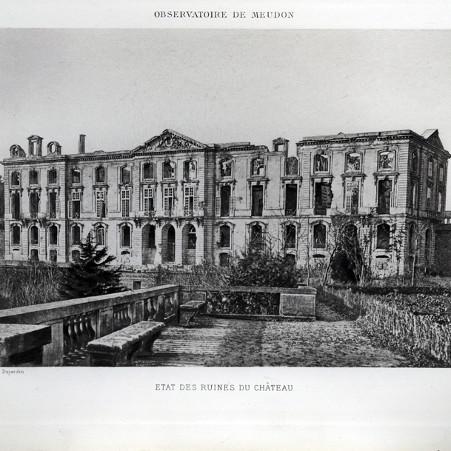 Le château neuf après l'incendie – droits : Observatoire de Paris