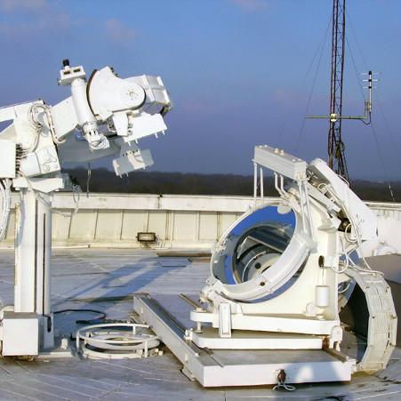 Le cœlostat de la Tour solaire – droits : Observatoire de Paris