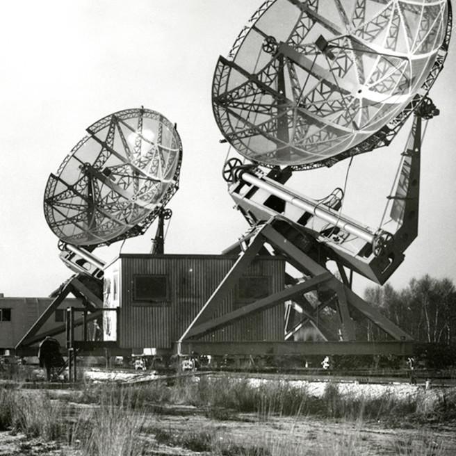 Les deux antennes Würzburg – droits : Observatoire de Paris