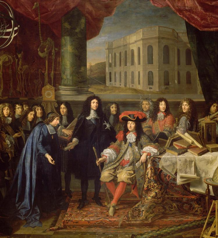 Présentation au roi de l'Académie des sciences – Testelin - droits : RMN/Grand Palais/Château de Versailles/Gérard Blot