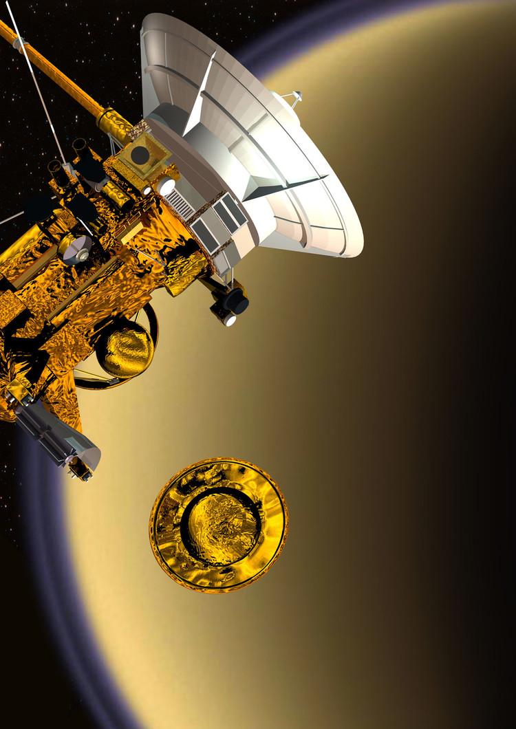 Légende : Mission Cassini-Huygens : séparation de l'atterrisseur Huygens - droits : ESA/D. Ducros