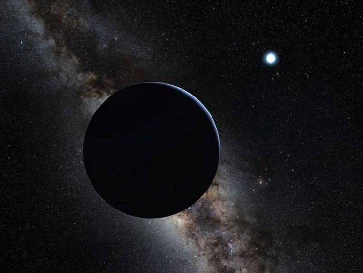 Vue d'artiste de la 9e planète – droits : HO/Caltech/AFP