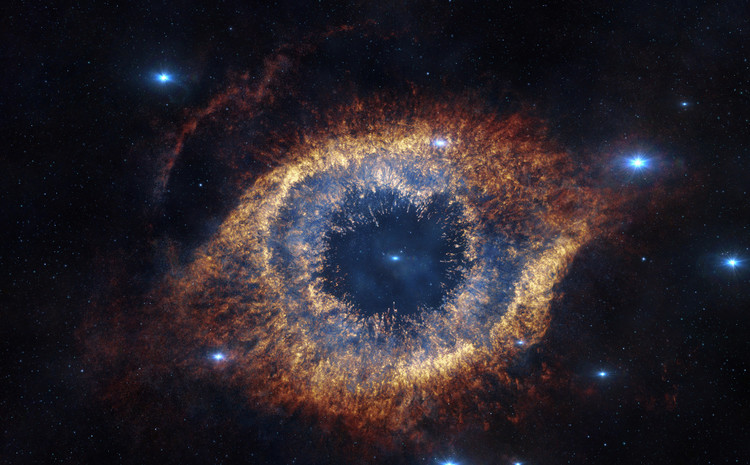La nébuleuse Helix – droits : ESO/VISTA/J. Emerson