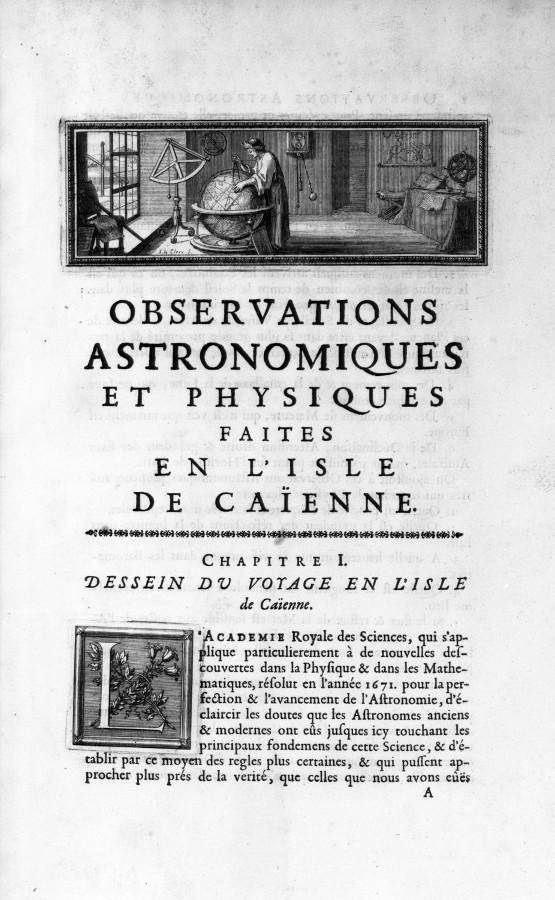 Mémoire sur les observations faites à Cayenne - droits : Observatoire de Paris