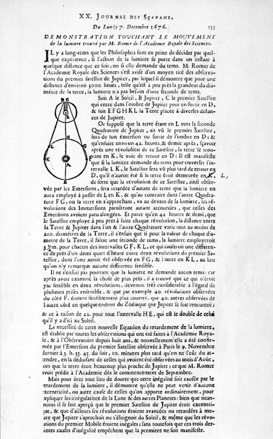 Démonstration de Rømer - droits : Observatoire de Paris