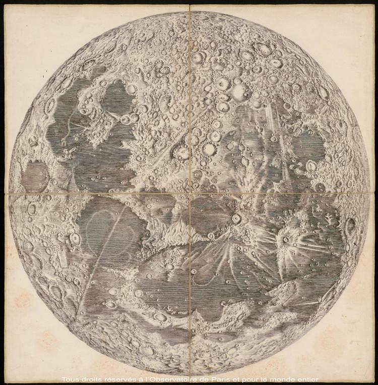 Carte de la Lune - droits : Observatoire de Paris
