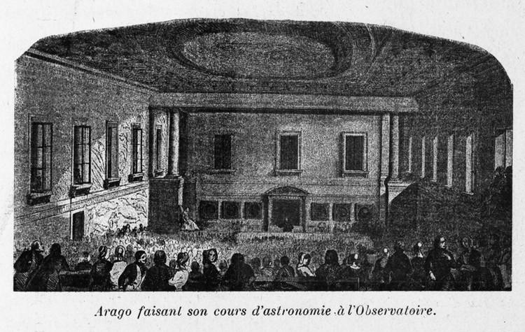 Arago faisant son cours d'astronomie à l'Observatoire, dans l'amphithéâtre - droits : Observatoire de Paris