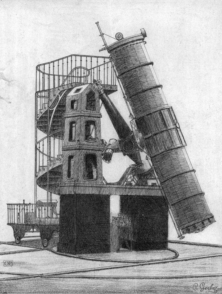 Télescope de 1,20 m, dessin de C. Gerboz - droits : Observatoire de Paris