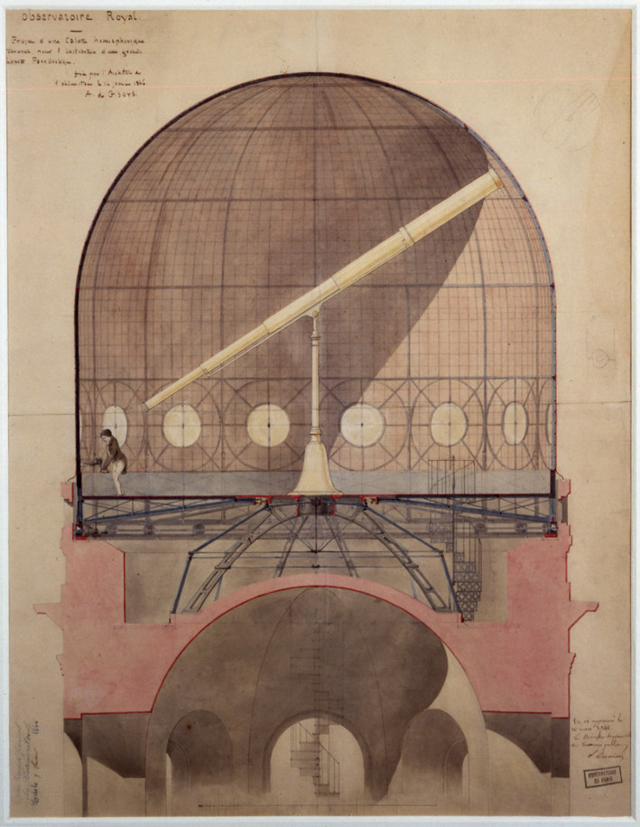 Coupole tournante pour l'installation de la lunette équatoriale - droits : Observatoire de Paris