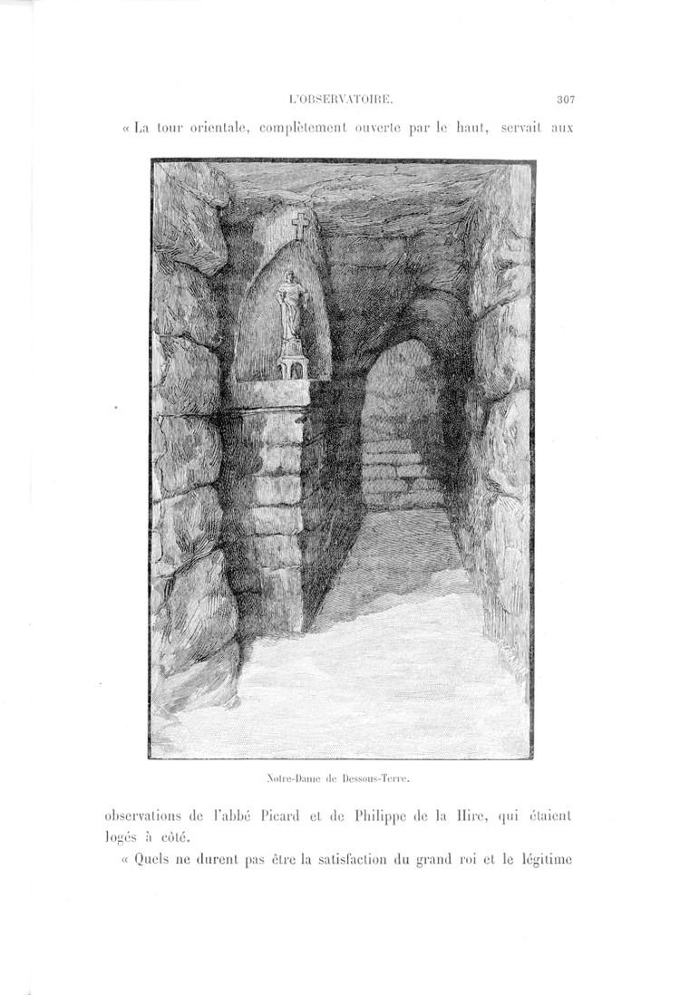 Notre-Dame de Dessous-Terre, placée en 1671 dans les souterrains de l'Observatoire - droits : Observatoire de Paris