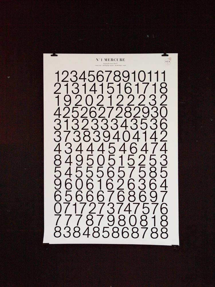 Affiches de révolution - série de 8 affiches typographiques N°1 Mercure, 88 jours - droits : aurélie Colliot