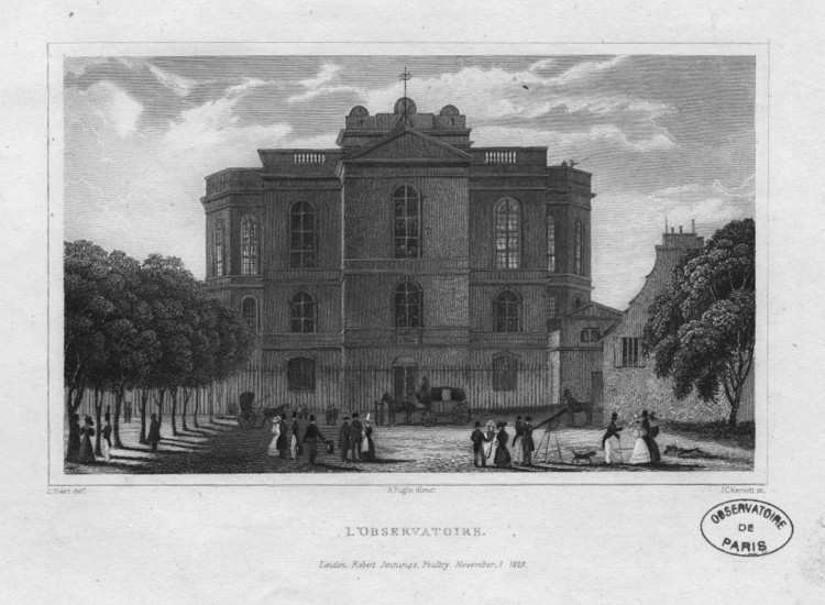 The Observatory in 1829 - credits : Observatoire de Paris