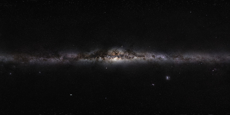 The panorama of the Milky Way – credits : Serge Brunier/Frédéric Tapissier