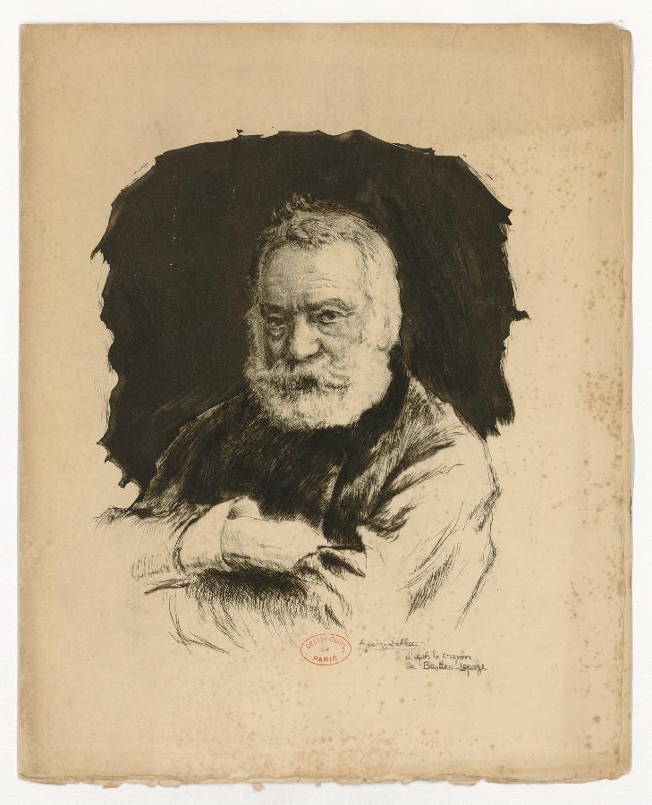 Victor Hugo's portrait - credits : Observatoire de Paris
