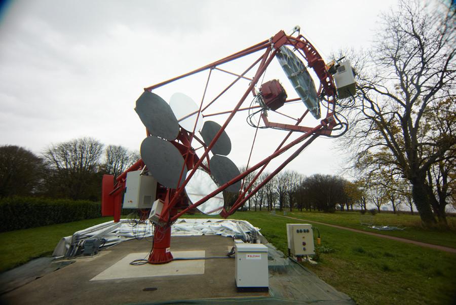 Le prototype de télescope Cherenkov à Meudon - Droits : J.-P. Amans