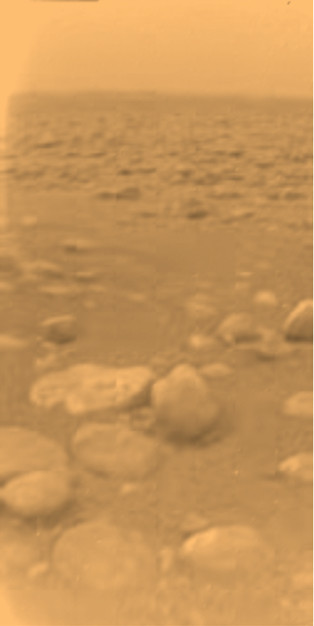 Titan's ground photographed by the Huygens lander